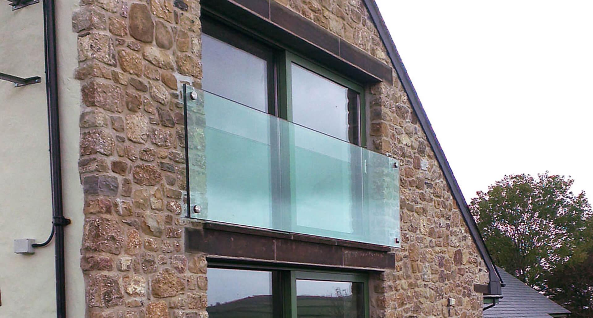 Wide Glass Juliet Balcony by Origin