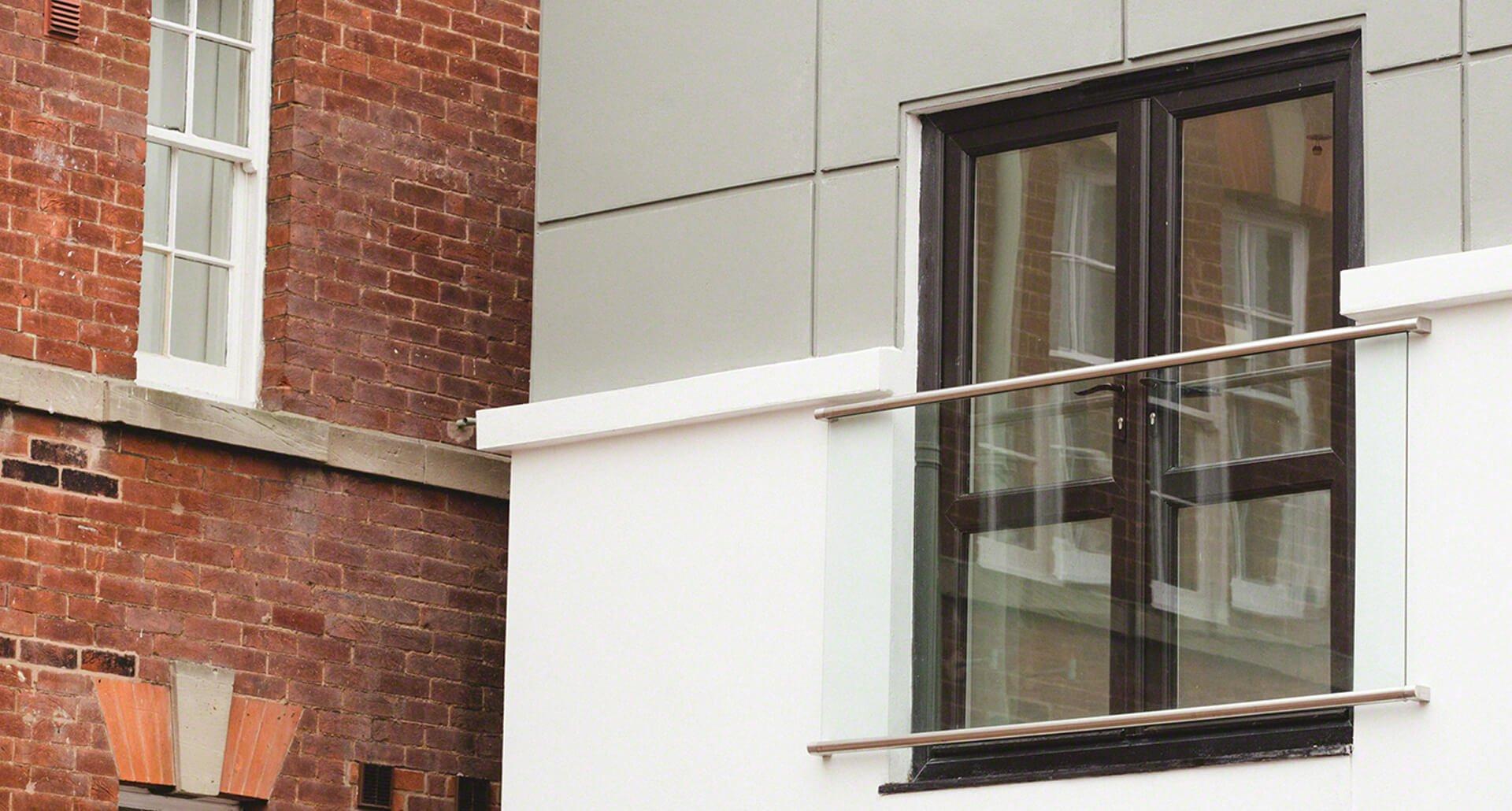 Steel tube juliet balcony by origin