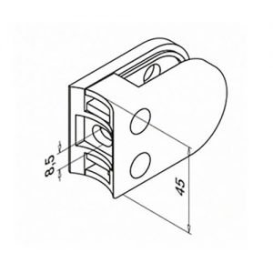 Middle D Glass Clamp